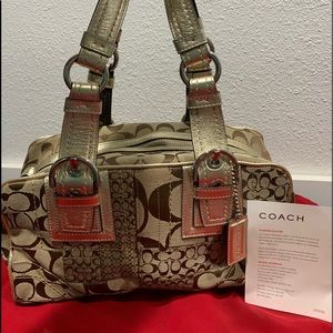 **AUTHENTIC** Coach All Gold Patchwork Collection